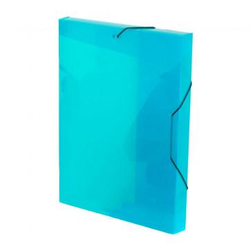 Mapa din plastic, A4, albastru, cu elastic, VIQUEL Coolbox
