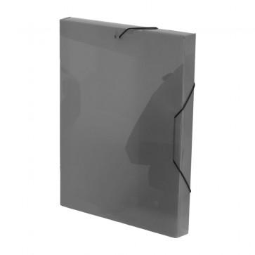 Mapa din plastic, A4, gri, cu elastic, VIQUEL Coolbox