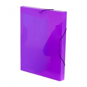 Mapa din plastic, A4, mov, cu elastic, VIQUEL Coolbox