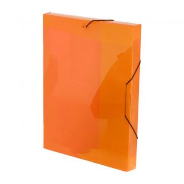 Mapa din plastic, A4, portocaliu, cu elastic, VIQUEL Coolbox