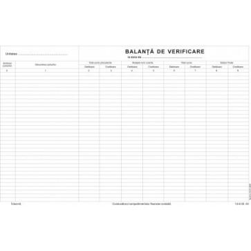Balanta de verificare, A3, tipar fata/verso, 100 file/carnet