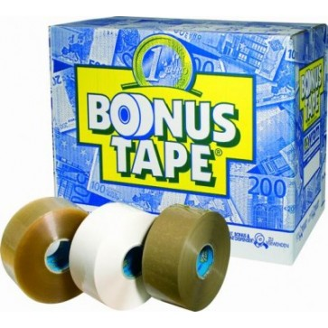Banda adeziva, 50mm x 200m, maro, SYROM Bonus Tape