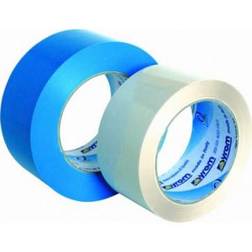Banda adeziva, 50mm x 66m, albastru deschis, SYROM PP Strapping 100