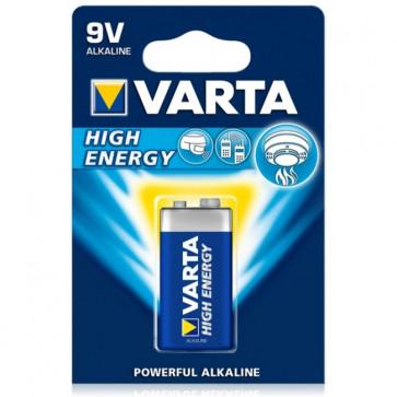 Baterie 9V, alcalina, VARTA High Energy