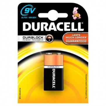 Baterie alcalina, 6LF22, 9V, DURACELL Basic Duralock