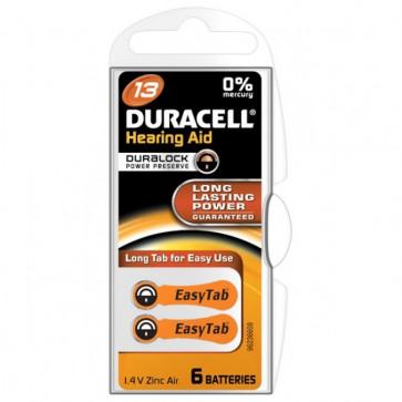 Baterii 13, zinc-aer, pentru aparat auditiv, DURACELL