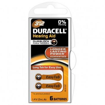 Baterii 312, zinc-aer, pentru aparat auditiv, DURACELL