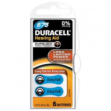 Baterii 675, zinc-aer, pentru aparat auditiv, DURACELL