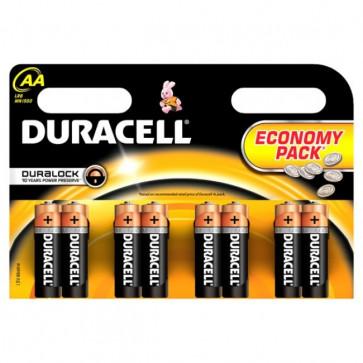 Baterii AA, alcaline, 8 bucati, DURACELL Basic Duralock