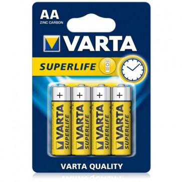 Baterii AA, zinc-carbon, 4 bucati, VARTA Super Life