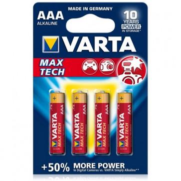 Baterii AAA, alcaline, 4 bucati, VARTA Max Tech