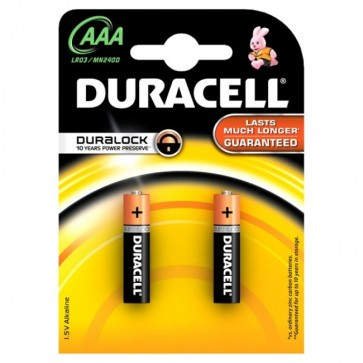 Baterii AAAK2, alcaline, 2 bucati, DURACELL Duralock