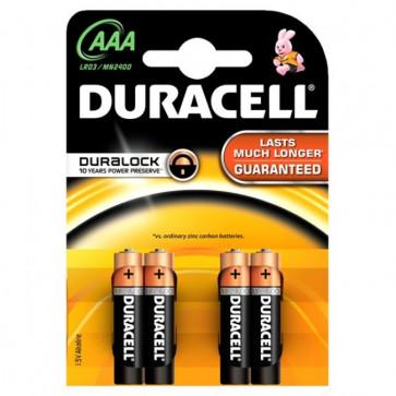 Baterii AAAK4, alcaline, 4 bucati, DURACELL Basic Duralock