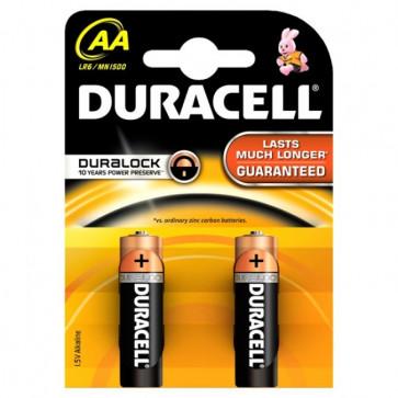 Baterii AAK2, alcaline, 2 bucati, DURACELL Duralock