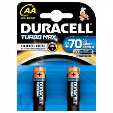 Baterii AAK2, alcaline, 2 bucati, DURACELL Turbo Max Duralock
