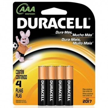Baterii AA/R6, alcaline, 4 buc/blister, DURACELL