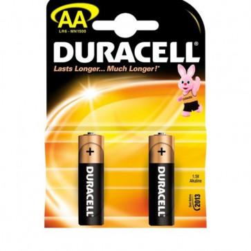 Baterii alcaline AA, 2 bucati, DURACELL