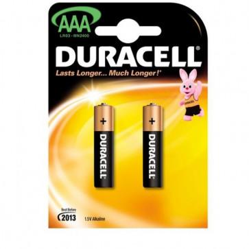 Baterii alcaline AAA, 2 bucati, DURACELL