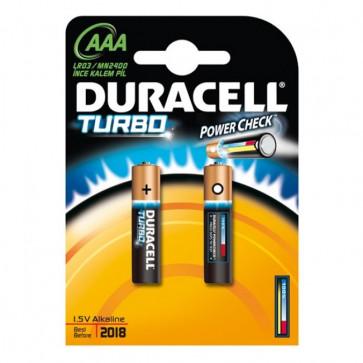 Baterii alcaline AAA cu tester incarcare, 2 bucati, DURACELL