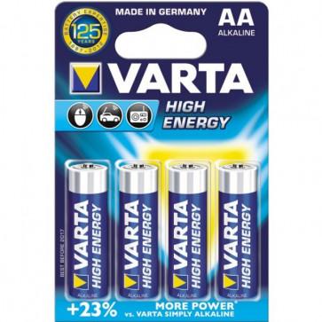 Baterii alcaline AA/R6, 4 buc/blister, VARTA High Energy