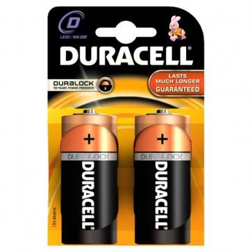 Baterii alcaline, D/R20, 2 buc/blister, DURACELL