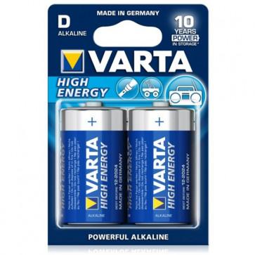 Baterii alcaline D/R20, 2 buc/blister, VARTA High Energy