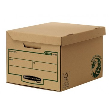 Container pentru arhivare, 260 x 325 x 375mm, kraft, FELLOWES Earth Series