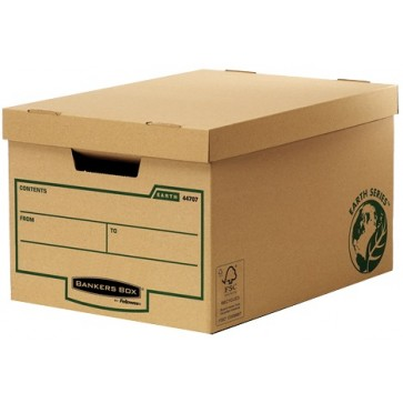 Container pentru arhivare, 260 x 325 x 445mm, kraft, FELLOWES Earth Series