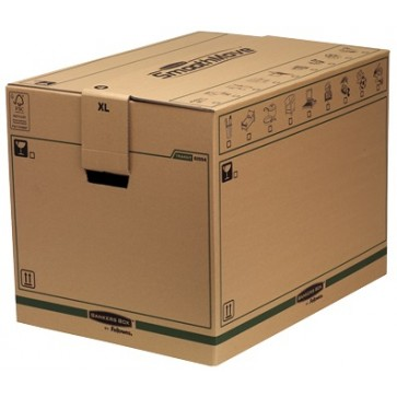 Container pentru arhivare, 406 x 457 x 457mm, kraft, FELLOWES SmoothMove