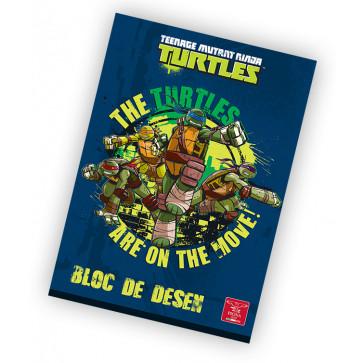 Bloc de desen, A4, 160 g/mp, 16 file, PIGNA Premium Ninja Turtles
