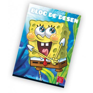 Bloc de desen, A4, 160 g/mp, 16 file, PIGNA Premium Sponge Bob