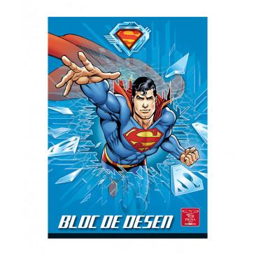 Bloc de desen, A4, 160 g/mp, 16 file, PIGNA Premium Superman