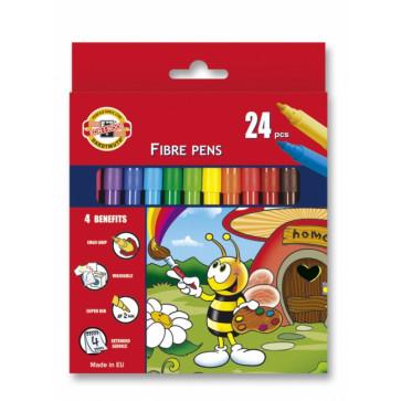 Carioci, 24 culori/set, KOH-I-NOOR Bees