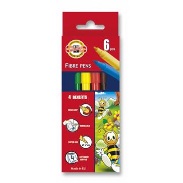 Carioci, 6 culori/set, KOH-I-NOOR Bees