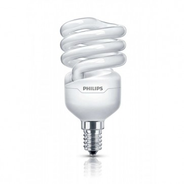 Bec economic, 12W, E14, Alb cald, PHILIPS