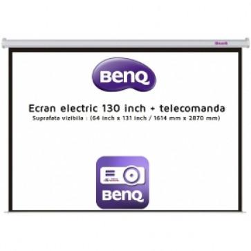 Ecran de proiectie electric, 130 inch (287 x 161.4 cm), 16:9, Benq