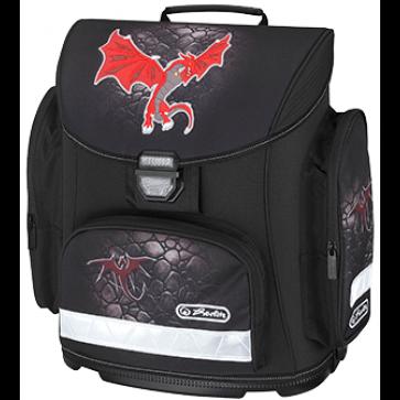 Ghiozdan ergonomic neechipat, HERLITZ Midi Red Dragon