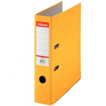 Biblioraft din carton prespan, 7.5cm, galben, ESSELTE Rainbow