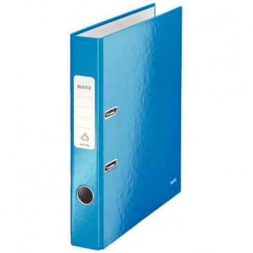 Biblioraft carton laminat, 5.0cm, albastru metalizat, LEITZ 180° Wow
