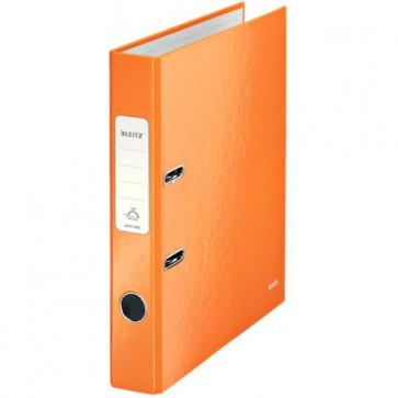 Biblioraft carton laminat, 5.0cm, portocaliu metalizat, LEITZ 180° Wow