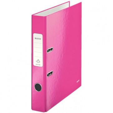 Biblioraft carton laminat, 5.0cm, roz metalizat, LEITZ 180° Wow
