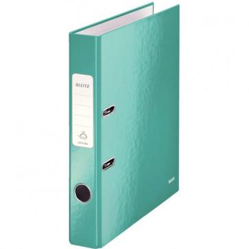 Biblioraft carton laminat, 5.0cm, turcoaz metalizat, LEITZ 180° Wow