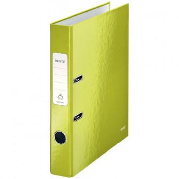 Biblioraft carton laminat, 5.0cm, verde metalizat, LEITZ 180° Wow