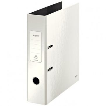 Biblioraft carton laminat, 8.5cm, alb metalizat, LEITZ 180° Wow