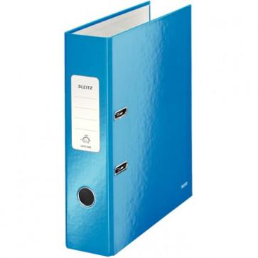 Biblioraft carton laminat, 8.5cm, albastru metalizat, LEITZ 180° Wow