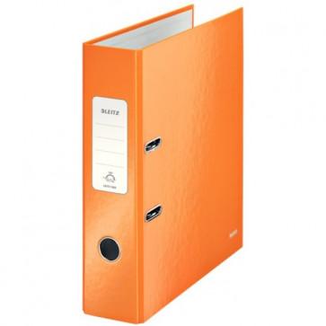 Biblioraft carton laminat, 8.5cm, portocaliu metalizat, LEITZ 180° Wow