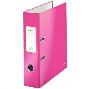 Biblioraft carton laminat, 8.5cm, roz metalizat, LEITZ 180° Wow