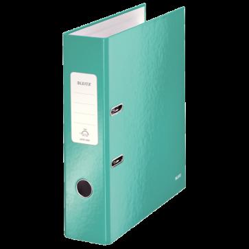 Biblioraft carton laminat, 8.5cm, turcoaz metalizat, LEITZ 180° Wow