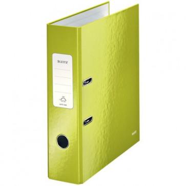 Biblioraft carton laminat, 8.5cm, verde metalizat, LEITZ 180° Wow