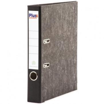 Biblioraft din carton, 5.0cm, negru marmorat, PLUSS